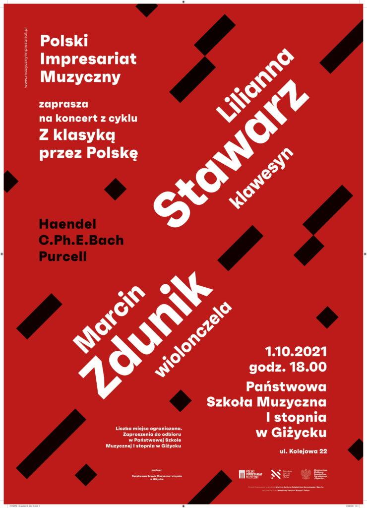 plakat promujący cykl koncertów Państwowej Szkoły Muzycznej